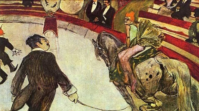 """2A: Toulouse Lautrec """"In the Circus"""""""