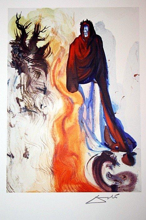 2D: Salvador Dali Woodblock - Signed