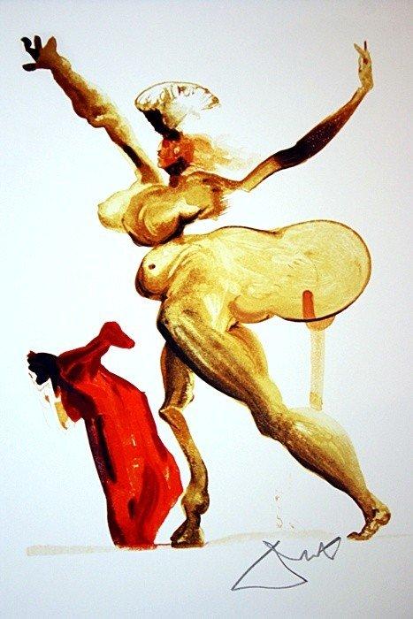 3D: Salvador Dali Woodblock - Signed