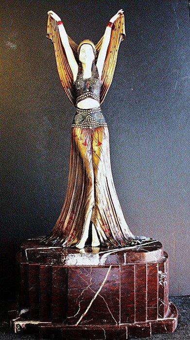 "3: ""Salome X"" Chiparus ivory and bronze sculpture"