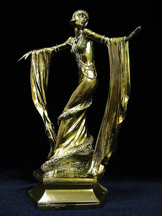 11G: Limited Edition 24K Gold Layered Bronze  Art Deco