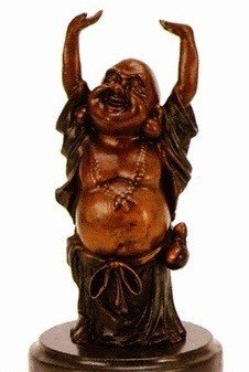 """3E: Wang """"Buddha"""" bronze sculpture"""