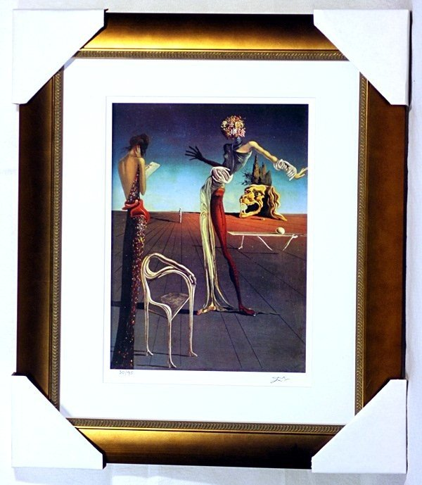 1P: Salvador Dali - Woman With A Head of Roses - Framed