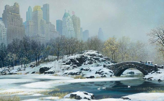 2M: Alexander Chen - Central Park Bridge Winter, Mixed
