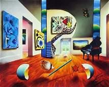 """11Z: Ferjo """"Lady's Song"""" Original Oil on Canvas"""