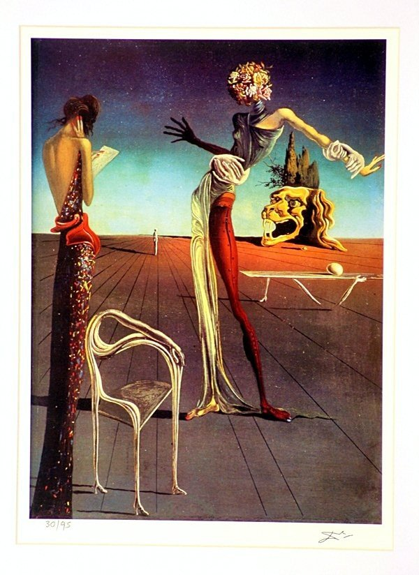 1N: Salvador Dali - Woman With A Head of Roses - Framed - 2
