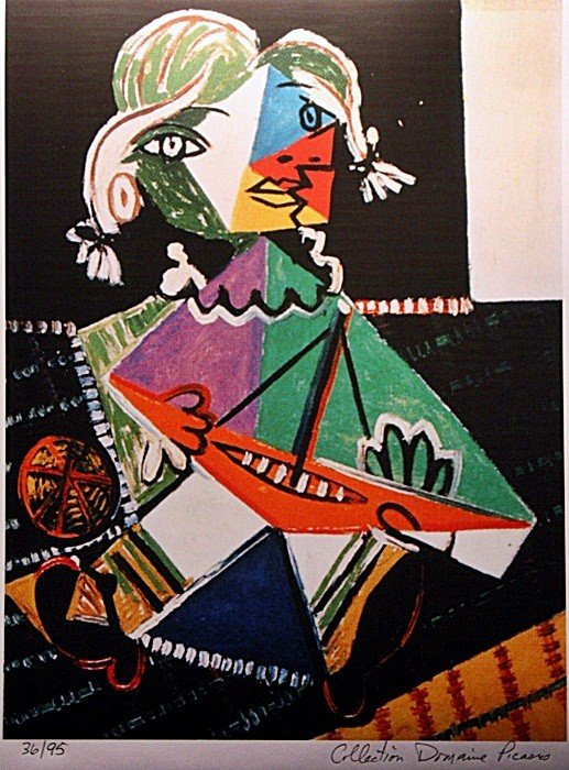 "2A: Picasso ""Maya and Boat"" ltd. Ed."