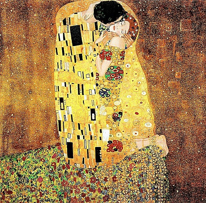 2H: The Kiss- Klimt - Limited Edition Giclee on Canvas