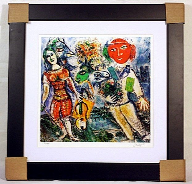 3N: Marc Chagall - Players - Framed Limited Edition Lit