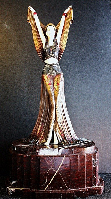 """3: """"Salome X"""" Chiparus ivory and bronze sculpture"""