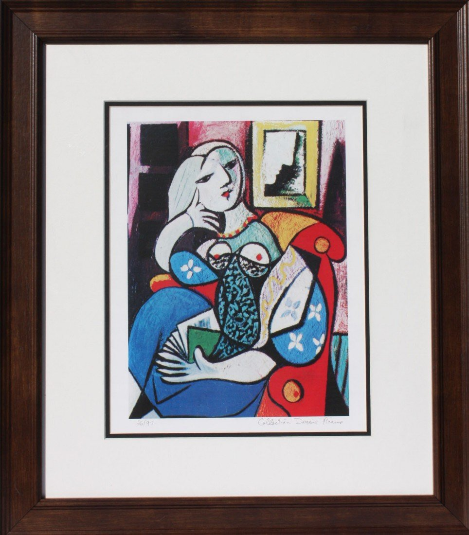 "2P: Picasso ""Woman with a Book"""