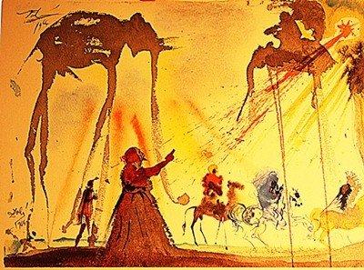 """2M: Salvador Dali """"Omnes de Saba venient"""" 1969"""