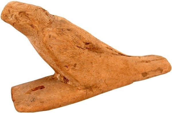 0004: ANCIENT EGYPTIAN CARVED WOOD BA FALCON