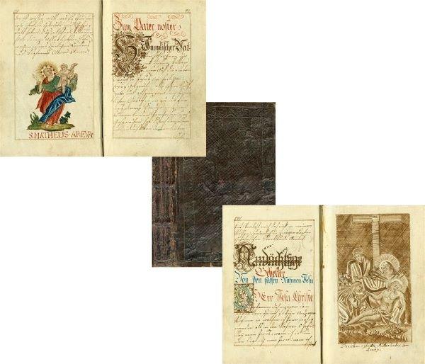 0014: GERMAN ILLUMINATED MANUSCRIPT PRAYER BOOK