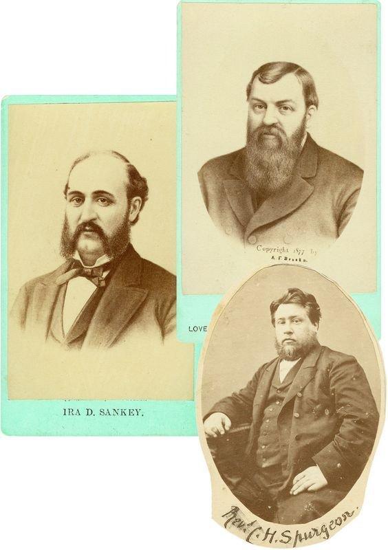 0019: CDV PORTRAITS OF D. MOODY /C. SPURGEON /I. SANKEY