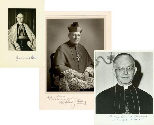0024: 3 ROMAN CATHOLIC CARDINALS SIGNED PHOTOS