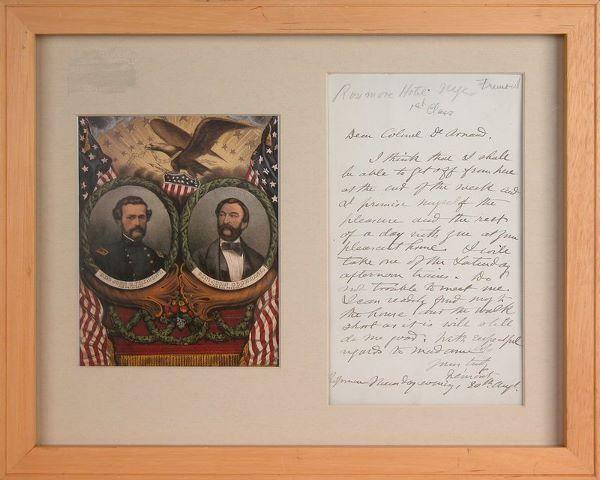 JOHN C. FREMONT HANDWRITTEN SIGNED LETTER