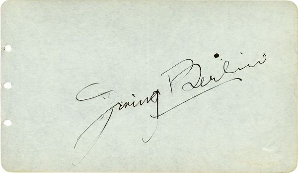0787: IRVING BERLIN SIGNED SIGNATURE