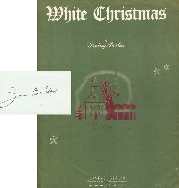 "0788: IRVING BERLIN SIGNED CARD /1942 ""WHITE CHRISTMAS"""