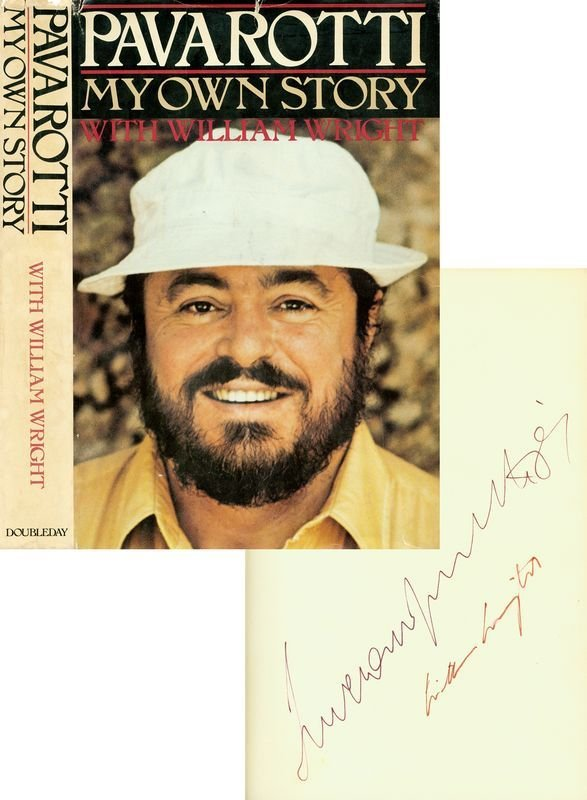 0806: LUCIANO PAVAROTTI SIGNED FIRST PRINTING BOOK