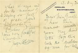 0856: JOSEPH CONRAD HANDWRITTEN SIGNED LETTER
