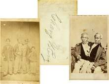0970: CHANG & ENG SIGNED CDV INSCRIBED BY DAUGHTER