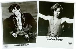 1225 2 JOHN MELLENCAMP SIGNED PHOTOS