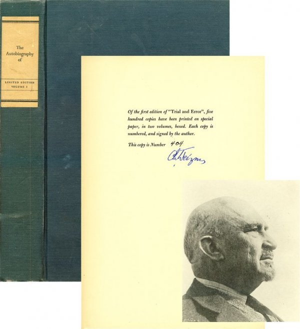 0001: CHAIM WEIZMANN SIGNED LIMITED EDITION BOOK
