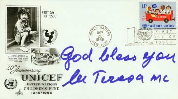 0012: MOTHER TERESA SIGNED FDC