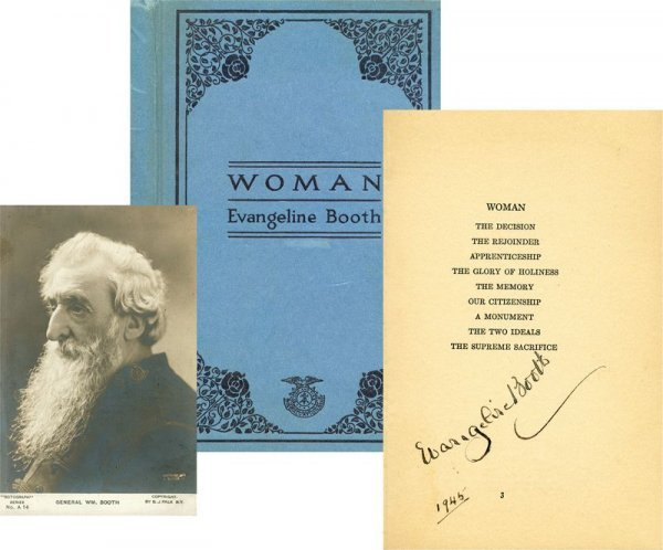 0023: EVANGELINE BOOTH SIGNED BOOK/ WM. BOOTH PORTRAIT