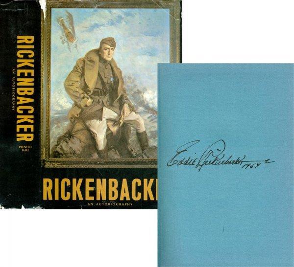 0209: EDDIE RICKENBACKER SIGNED BOOK: AUTOBIOGRAPHY