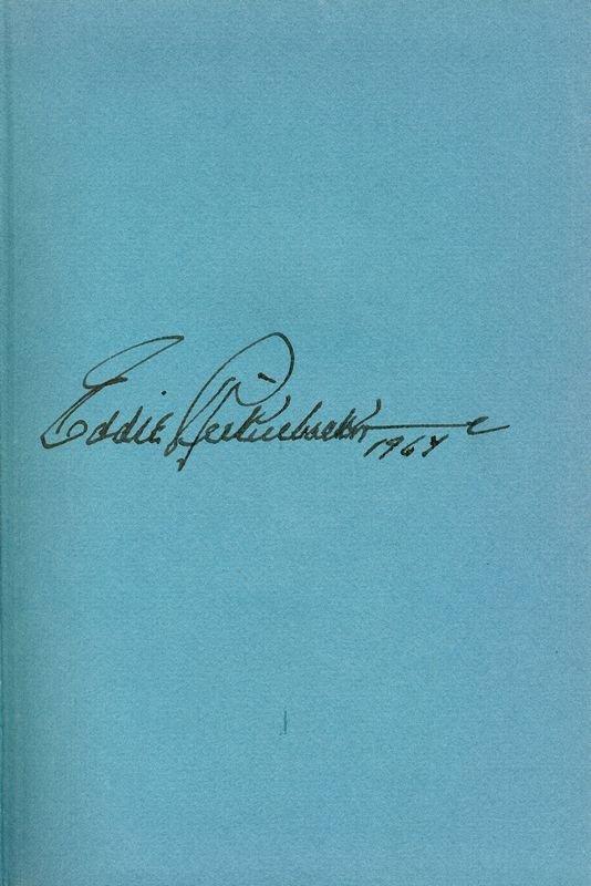 0209: EDDIE RICKENBACKER SIGNED BOOK: AUTOBIOGRAPHY - 2
