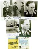 0298 GERMAN AIR ACES SIGNED PHOTOS