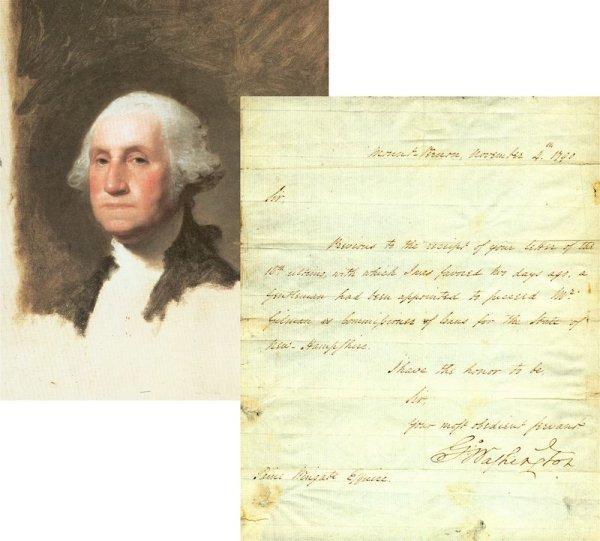 0457: GEORGE WASHINGTON LETTER SIGNED AS PRESIDENT