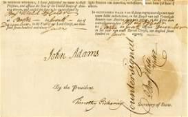 0459: JOHN ADAMS SIGNED DOCUMENT