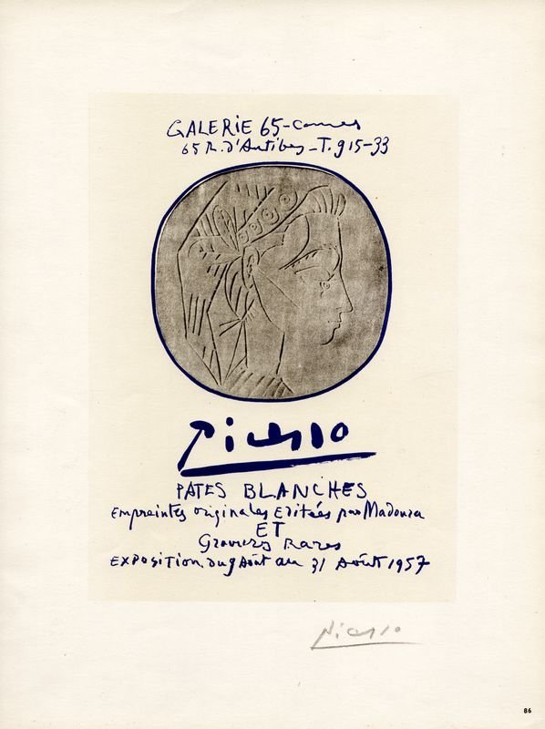 0596: PABLO PICASSO SIGNED POSTER LITHOGRAPH