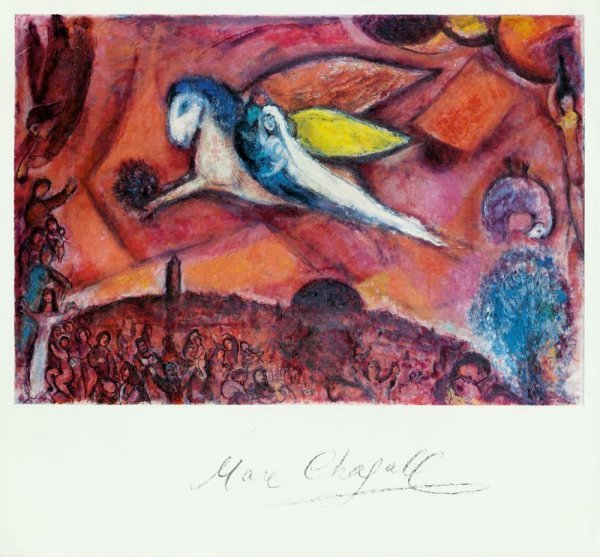 0604: MARC CHAGALL SIGNED PRINT