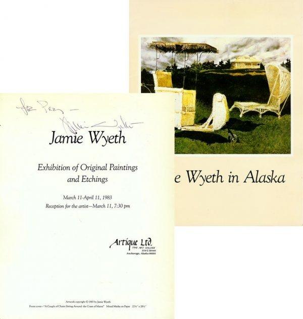 0614: JAMIE WYETH SIGNED EXHIBITION CATALOG