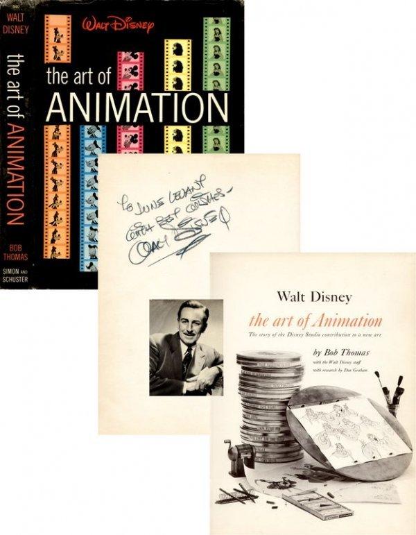 0615: WALT DISNEY SIGNED FIRST EDITION ART OF ANIMATION