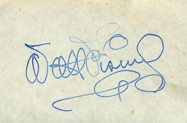 0617: VINTAGE WALT DISNEY SIGNED CARD