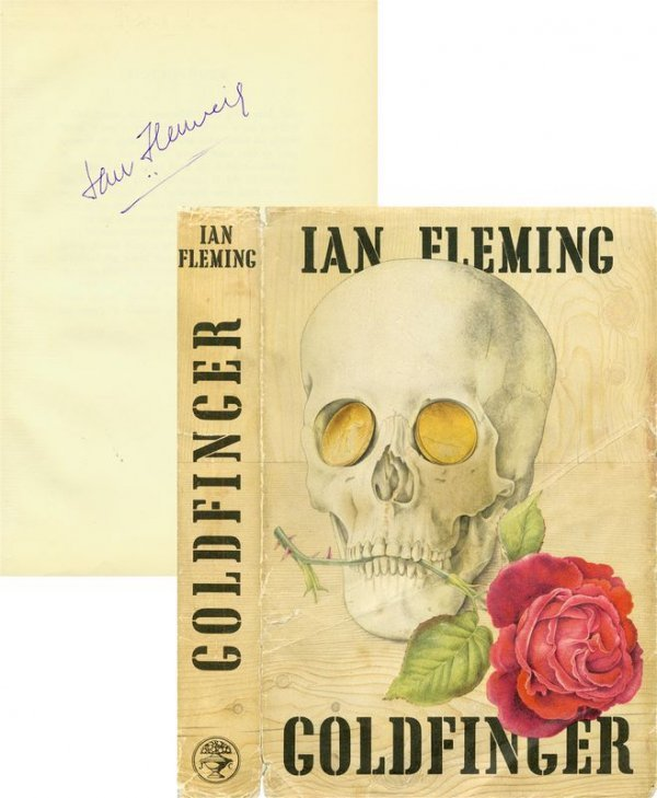 0663: IAN FLEMING FIRST EDITION SIGNED BOOK: GOLDFINGER