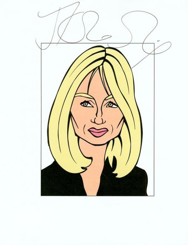 0685: J. K. ROWLING SIGNED CARICATURE SKETCH