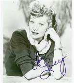 0769 LUCILLE BALL SIGNED BW PHOTO