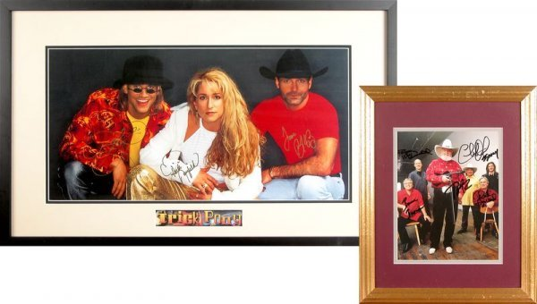 0794: CHARLIE DANIELS BAND & TRICK PONY SIGNED PHOTOS
