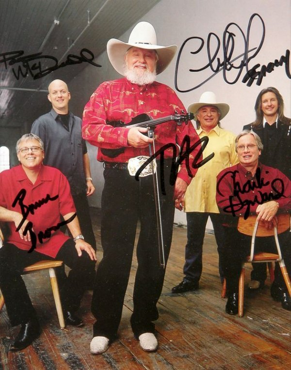 0794: CHARLIE DANIELS BAND & TRICK PONY SIGNED PHOTOS - 2