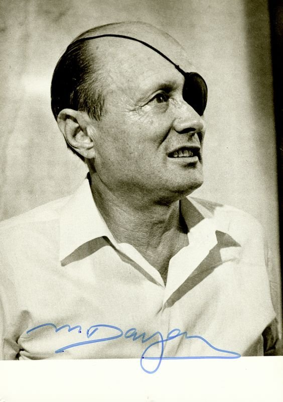 6: MOSHE DAYAN SIGNED PHOTOGRAPH