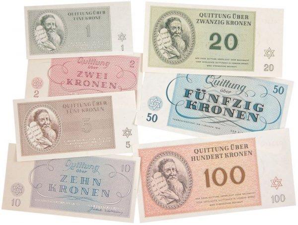 12: THERESIENSTADT CAMP MONEY COMPLETE SET