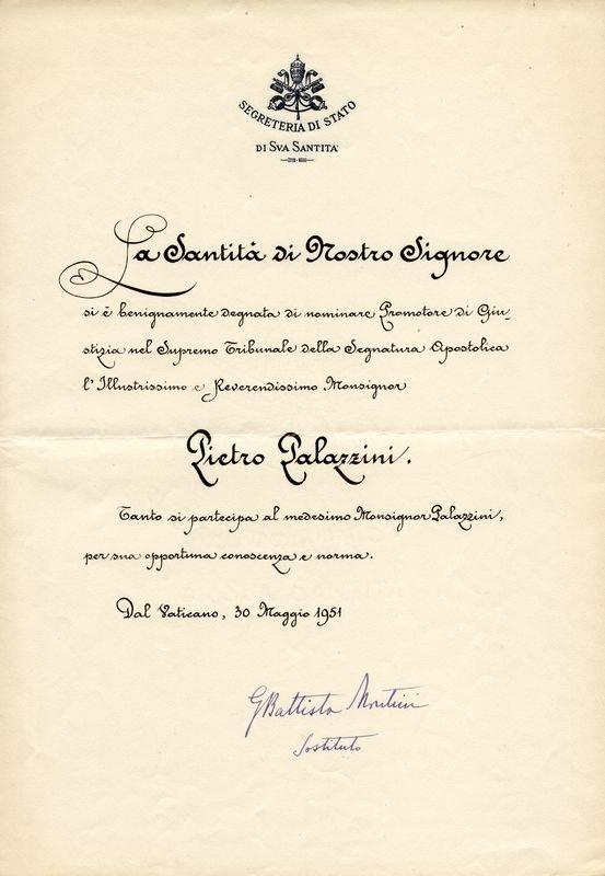 17: POPE PAUL VI SIGNED DOCUMENT