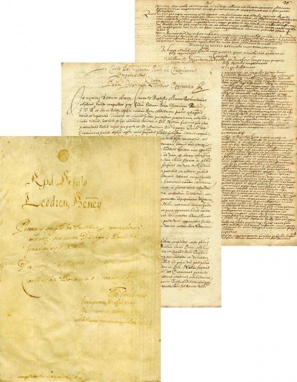 22: ORIGINAL HANDWRITTEN MANUSCRIPT/LUTHER'S CONVERTS