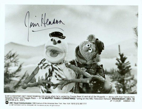 821: JIM HENSON SIGNED MUPPET PHOTOGRAPH